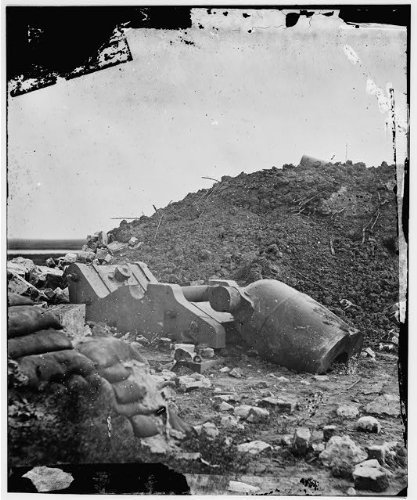 Timothy Osullivan Civil War - Photo: Dismounted mortar, Fort Pulaski, Georgia, GA, Timothy O'Sullivan, Civil War, 1862 . Size: 8x1