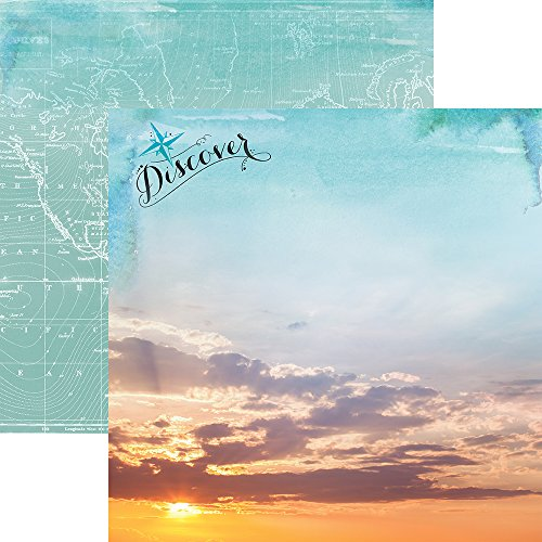 ons P-2070E Discover the World Travel Double-Sided Cardstock, 12