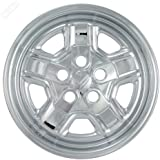 Set of 4 Chrome Wheel Skin Hub Covers With Center For 16x6 Inch 5 Lug Steel Rim - Part Number: IWCIMP/78X