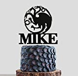 Personalized Game of Thrones House Targaryen Cake Topper, Game of Thrones Birthday, Game of Thrones Party, Winter is Coming, GOT Wedding