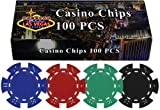 These 11.5 gram poker chips are made of a High Quality Clay Composite Resin with a metal insert for added weight. Each chip is made to specifications and is perfectly balanced to give the proper effect.