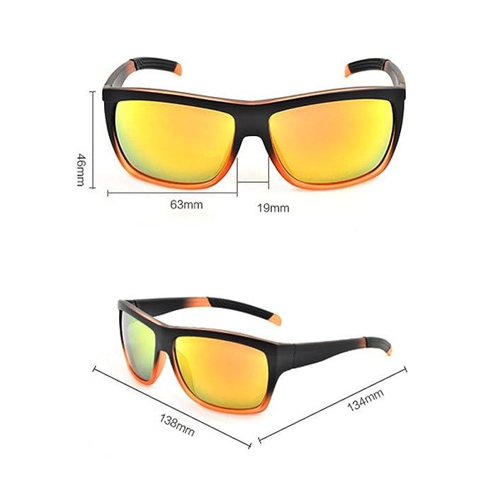 22b7a2b41ac UV 400 Sunglasses Unisex Sun Protection Glasses - Gradient Orange Sunglasses  at Amazon Women s Clothing store
