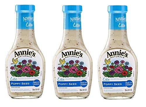 (Annie`s Natural Dressing ,Lite Poppy Seeds,8 Fl oz, (Pack of 3))