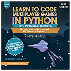 Expand your son's or daughter's working knowledge of science, math and the python computer language with a school board approved programming curriculum for kids!  Kids all over the planet absolutely love video games, especially space adventur...