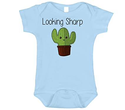 ecc97f9b Amazon.com: Cute Looking Sharp Cactus 100% Cotton Onesies for Babies:  Clothing