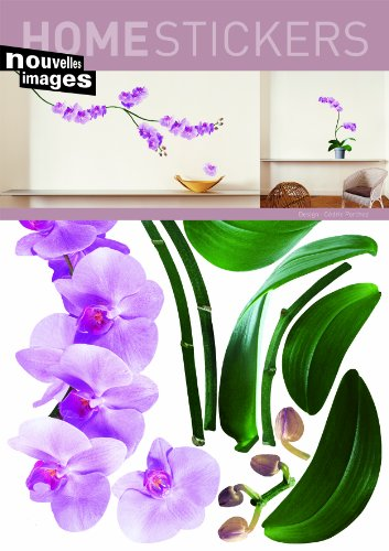 Home Stickers Pink Orchids Decorative Wall Stickers