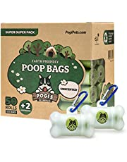 Pogi's Poop Bags - 50 Rolls (750 Dog Poop Bags) +2 Dispensers - Leak-Proof, Earth-Friendly Poop Bags for Dogs