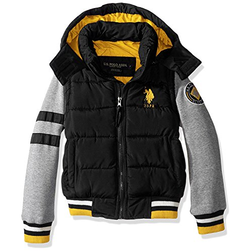 us-polo-assn-boys-big-boys-hooded-bubble-jacket-blue-fleece-sleeves-black-8