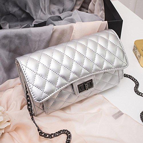 Aoligei Ling treillis chaîne sac fashion femmes sac petit Baotan oblique sac à bandoulière D