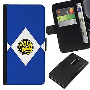 LG G2 D800 D802 D802TA D803 VS980 LS980 , la tarjeta de Crédito Slots PU Funda de cuero Monedero caso cubierta de piel (Triceratops)