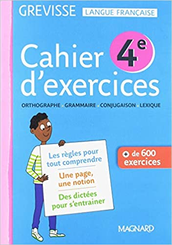 Amazon Fr Cahier D Exercices Grevisse 4e Ariane Carriere