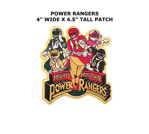 Mighty Morphin Power Rangers Embroidered Iron/Sew On Patch By (Mighty Morphin Power Rangers Costume Hoodie)