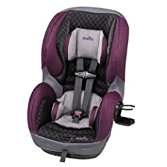 The Evenflo Sure Ride DLX Convertible Car Seat holds a rear-facing infant from 5 - 40 lbs. (height: 19 - 40 inches) and a forward-facing toddler from 22 - 65 lbs. (height: 28 - 54 inches). The Evenflo Sure Ride DLX Convertible Car Seat meets ...