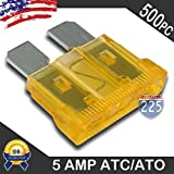 500 Pack 5 AMP ATC/ATO Standard Regular Fuse Blade 5A Car Truck Boat Marine RV