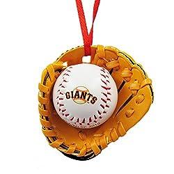 San Francisco Giants Ball and Glove Christmas Ornament by Kurt Adler