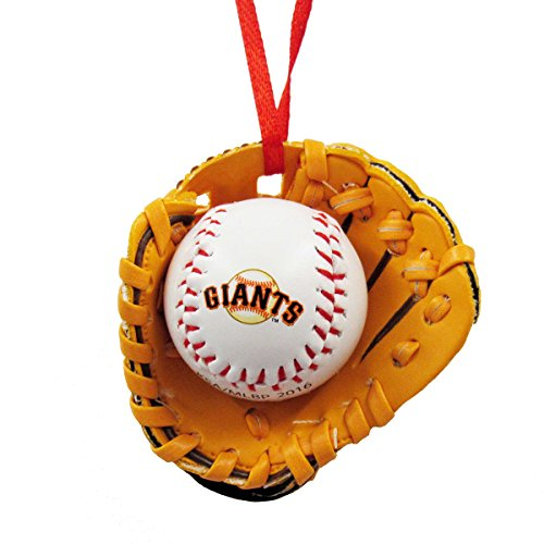 San Francisco Giants Team Ball (San Francisco Giants Ball and Glove Christmas Ornament by Kurt Adler)