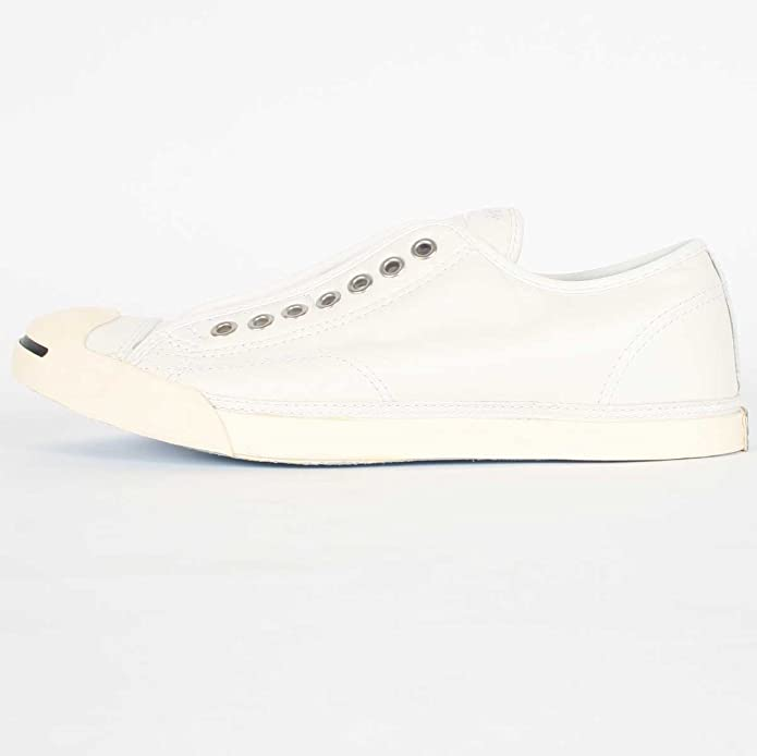ecbf261b8af2a1 Converse Unisex Jack Purcell® Low Profile Slip White Egret Leather Men s  7.5