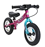 Bikestar Running Balance Bike for Kids 2 year old with air tires and brakes | 10 Inch Sport Edition | Berry & Turquoise