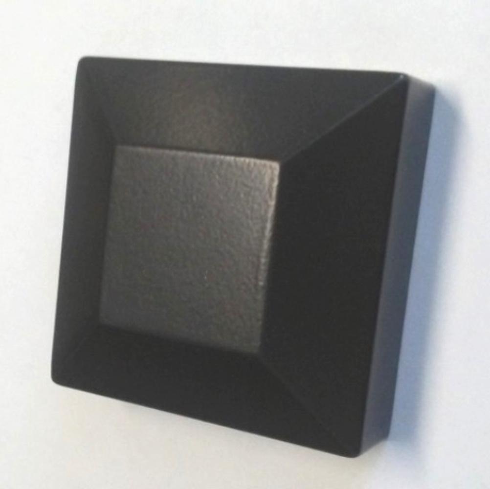 Lot of 10 Aluminum Flat Post Cap fits 2'' Sq (3 Colors to choose from) (Bronze)