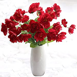 15 PCS- latex Corn Poppies Decorative Silk fake artificial poppy flowers for Wedding holiday Bridal Bouquet Home Party Decor 117