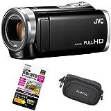 【3点セット】JVC Everio 8GB内蔵メモリー フルハイビジョンビデオカメラ GZ-E880-B ブラック&液晶保護フィルム&カメラバッグ
