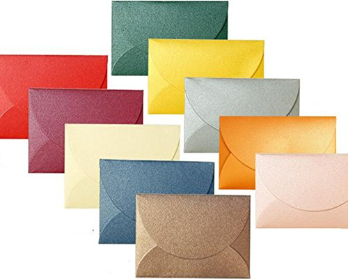 LanMa Mini Envelopes for Personalize Gift Cards - Multicolor Perfect sized Envelope for Wedding, Birthday Party