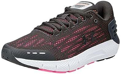 Under Armour UA W Charged Rogue, Women's Road Running Shoes, Grey (Jet Gray/Peach Plasma/Jet Gray 105), 6 UK (40 EU)