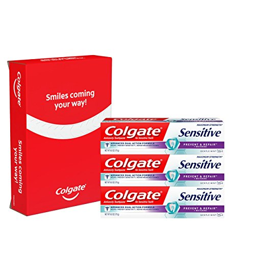 - Colgate Sensitive Toothpaste, Prevent and Repair - 6 ounce (3 Count)