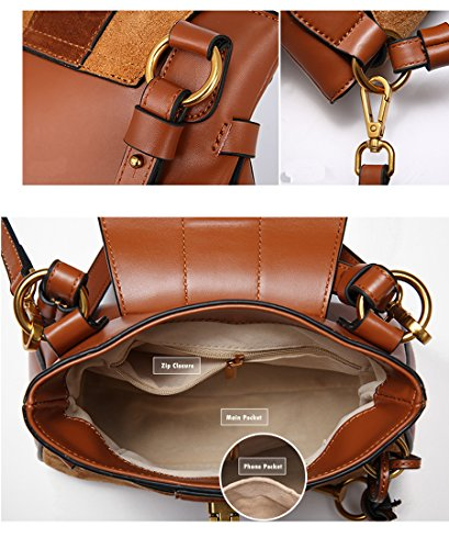 de Bourgogne SHELI Bandoulière Faux à Sac Sac Trendy Luxe Womens Leather F5Hngp6