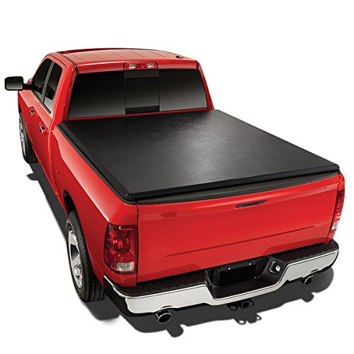 For Tundra 6.5 Ft Vinyl Soft Tri-Fold Tonneau Cover + Utility Track Kit