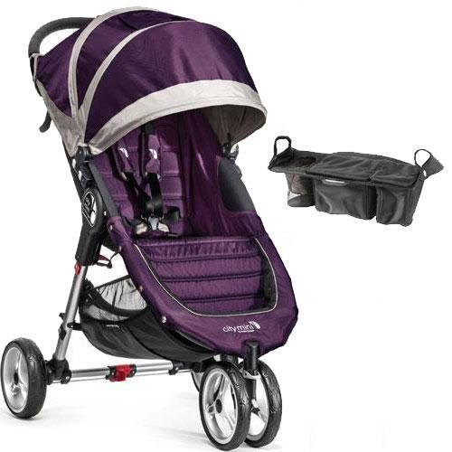 Baby Jogger - City Mini Single Stroller with Parent Console- Purple Gray