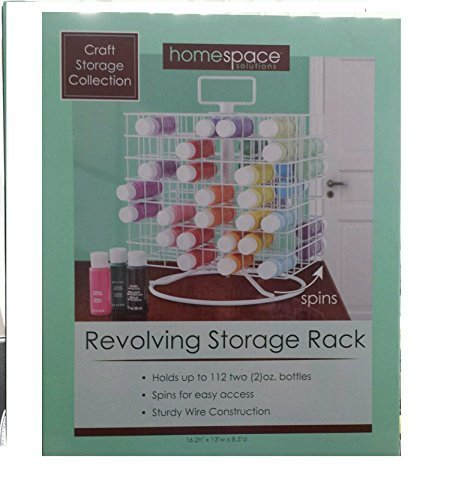 Craft Storage Collection; Craft Paint Revolving Storage Rack by Homespace Solutions