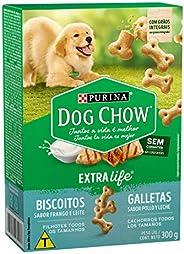 NESTLÉ PURINA DOG CHOW Biscoitos para Cães Filhotes Frango e Leite 300g