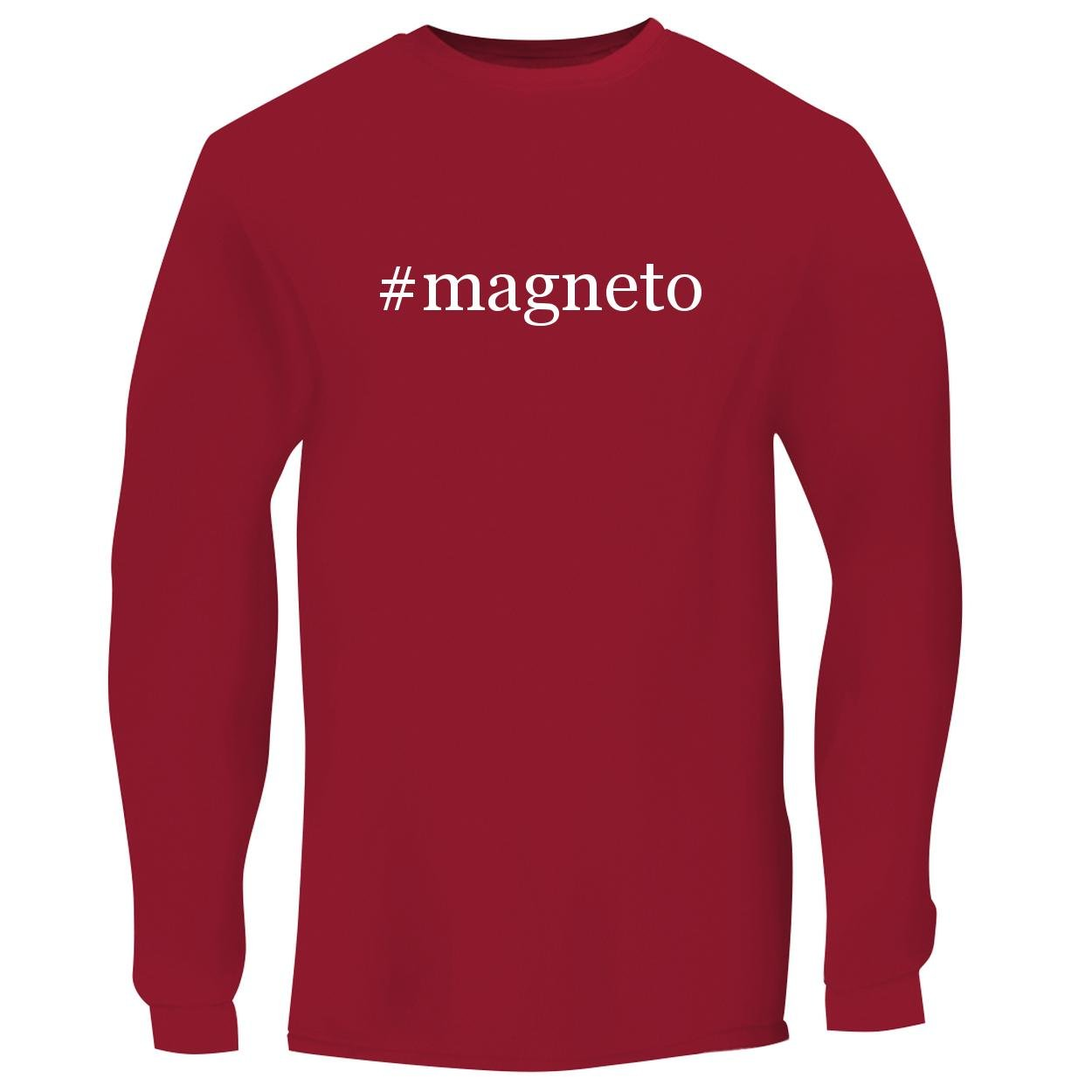 BH Cool Designs #Magneto - Men's Long Sleeve Graphic Tee, Red, Large