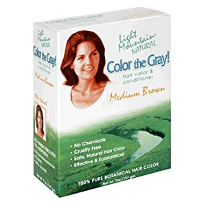 Light Mountain Natural Color The Gray! Hair Color & Conditioner, Medium Brown... by Light Mountain