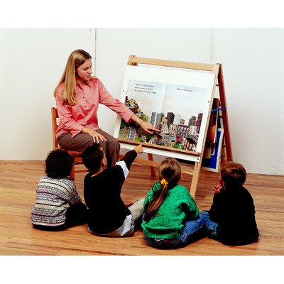 Childcraft 071936 Big Book Easel with Dry Erase Panel, Extra Wide, Birch Veneer, 36