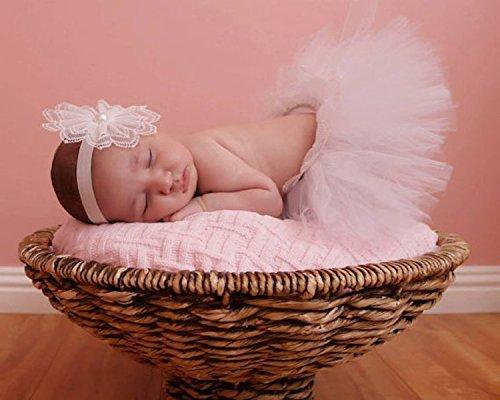 White Tutu and Headband SET - Sweetheart Cupcake Style Newborn Tutu Set, White Headband with pearls, babies first photography.