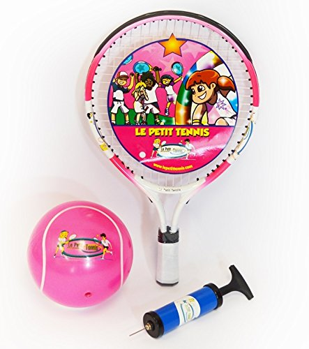 Le Petit Tennis - Baby Tennis Racquet 15 (39cm) Pink with Pink Inflatable Ball (For Ages 1-2) NEW