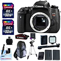 Canon EOS T6s Body Only + 2 32GB Transcend SD Memory Cards + LED Video Light + Spare LP E17 Battery + DSLR Sling Bag & More - International Version Basic Facts Review Image