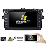 toyota corolla touch screen - hizpo for Toyota Corolla 2007-2011 Car DVD Player 8 Inch Touch Screen GPS Stereo iPhone Music/AM FM Radio/SWC/Bluetooth/3G/AV-IN