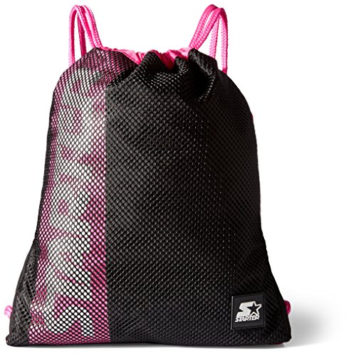 Starter Drawstring Backpack, Amazon Exclusive, Black/Power P