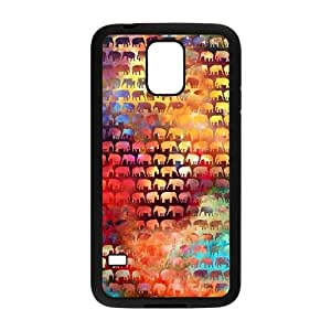 ZK-SXH - The Happy Elephant Personalized Phone Case for SamSung Galaxy S5 I9600, The Happy Elephant Customized Case