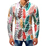 Clearance Deals Mens Long Sleeve Button Down Shirts vermers Men Fashion Printed Blouse Casual Slim Shirts Tops(5XL, Multicolor2)