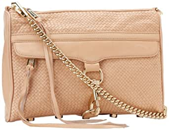 Rebecca Minkoff MAC Woven With Light Gold Hardware 10CIWMCRE2 Convertible Cross-Body Handbag,Sand,One Size
