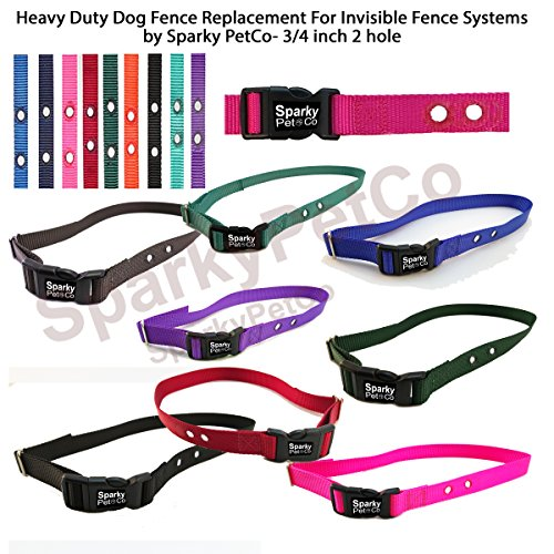 Sparky Pet Co Heavy Duty Dog Fence Replacement Nylon Receiver Strap 3/4