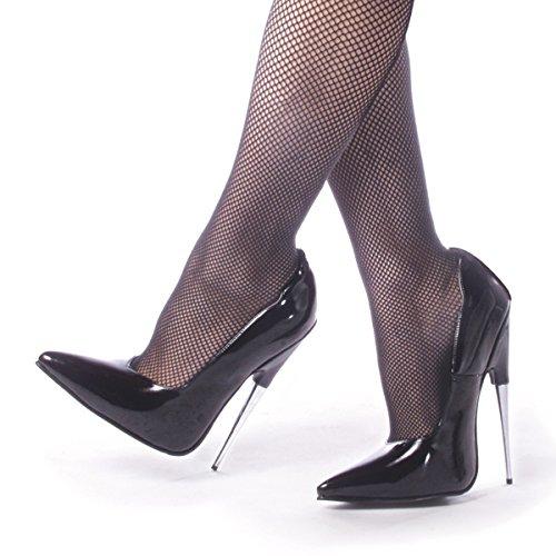 Devious Women's 6 Inch Spike Stell Heel Pump (Black;14) -