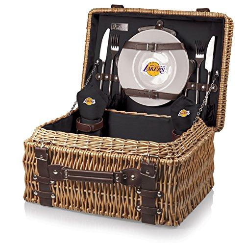 NBA Champion cesta de Picnic con Servicio de de lujo para dos, negro, (Item Color: Black), Una talla
