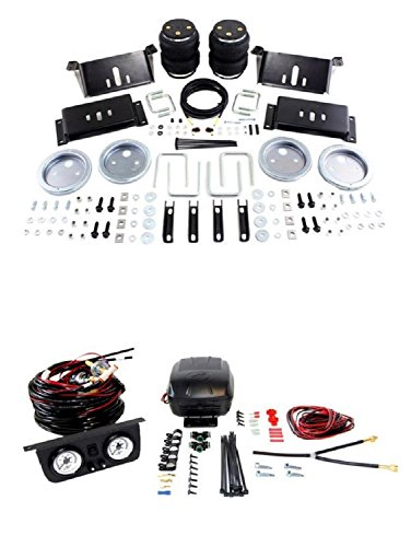 Air Lift 57215/25812 Set of Rear Load Lifter 5000 Series w/Load Controller II On-Board Air Compressor System Kit for Ram 1500/2500/3500/D-150/D-250/D-350/F-150/F-250/F-350/C15/C25/C35 -