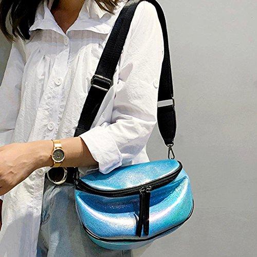 Chest Women Leather Messenger Widewing Handbags Funny Sling Packs Blue Girls Waist qw0T6