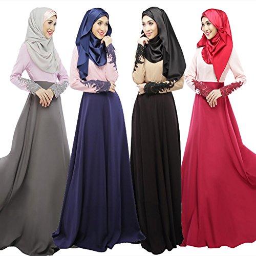 Amazon.com  Froomer Women Abaya Jilbab Muslim Kaftan Long Sleeve Maxi Dress   Clothing 10d47c00f27b